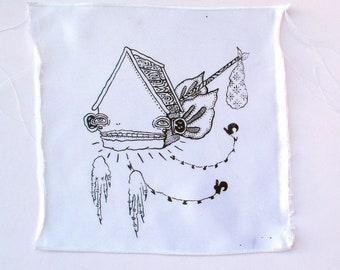 Hobo House Screen Print Patch Silkscreen DIY crust punk patch