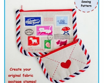 PDF Airmail Zipper Pouch - Zakka Sewing Pattern - Instant Download