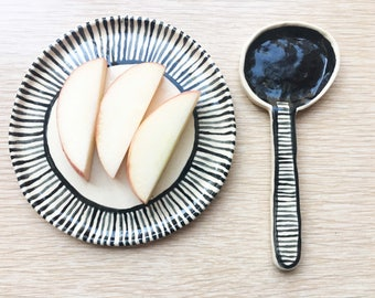 2 Pc Snack Plate and Spoon