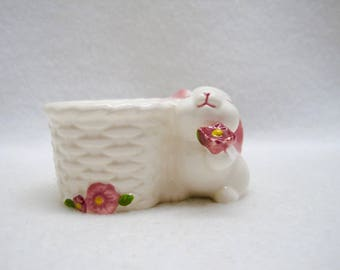 Avon Bunny Taper Candle Holder