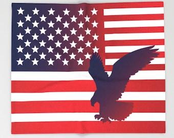 American Flag Blanket USA flag Blanket Flag art Blanket Military Blanket Eagle Blanket Independence day Blanket Red Blanket Patriot Blanket