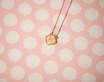 Vintage-Style Initial Necklace