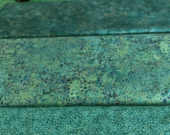 Northcott  Shimmer Greens  fabric  by the half yard