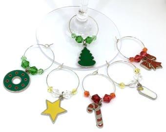 christmas wine charms - Christmas Wine Charms