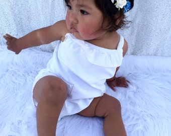 Baby Flower Crown, Flower Crown, Blue and White Flower Crown, Flower Girl Crown, White Flower Crown, Flower Girl Flower Crown,