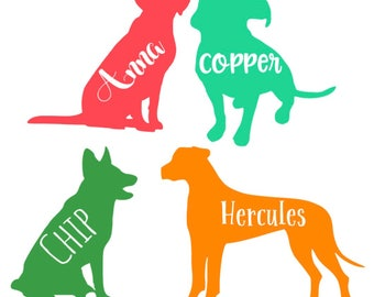 Personalized Dog Decal!