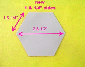 500 Paper Hexagon Templates for Patchwork  One and 1/4  inch Sides