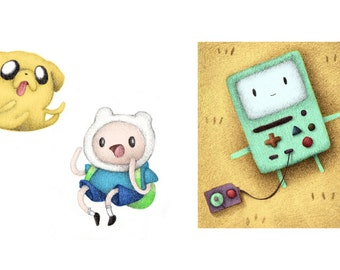 Adventure Time, Jake, Finn and BMO Button Pack