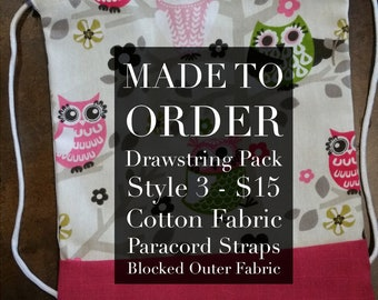 Made to Order: Custom Drawstring Pack