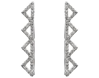 Ear Climbers Sterling Silver