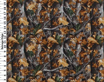 RealTree Cotton Fabric-Realtree Camo Cotton Fabric-Sold By the Yard-100% Cotton