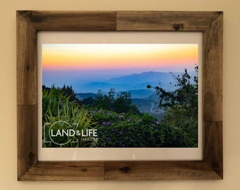 Colourful Mountain View Lustre Print