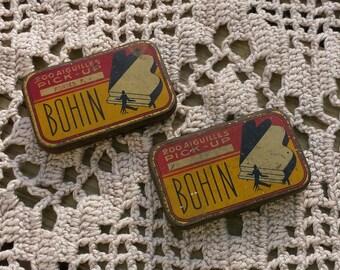 2 small boxes of empty Bohin needles