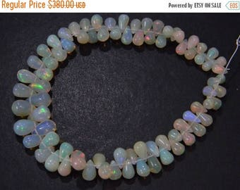 on sale Super fine quality ethiopian opal smooth drops  briolitte 8 inch strand 4x6-5x7 mm approx