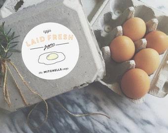 Egg Carton Sticker Labels - Customizable - Chicken Coop - Chicken Design - Homestead - Egg Carton - Farm Packaging Labels