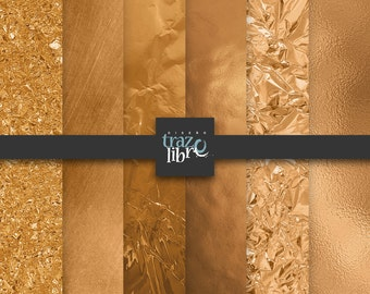 GOLD DIGITAL PAPER: Metallic Gold Digital Paper | Gold Paper | Gold Backgrounds | Gold Foil Paper | Gold Scrapbook Paper | Digital Download