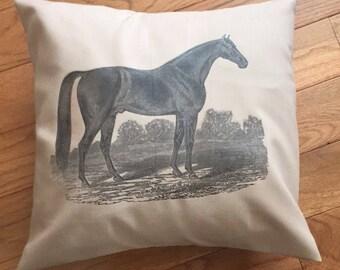 Handmade Equestrian Pillow Cover