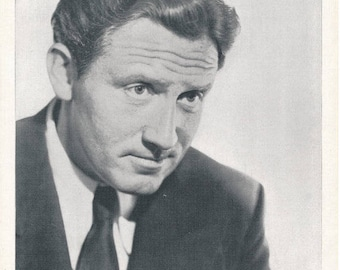 Spencer Tracy   Libelled Lady Publicity Photo   MGM Pictures 1936    Golden Age of Hollywood Actor   Vintage Black and White Photograph