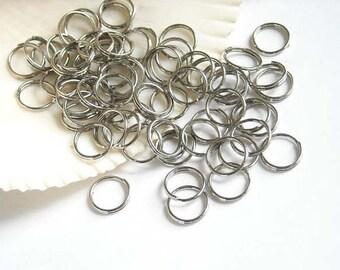 50 Stainless Steel Double Loop Split Open Jump Rings 10mm, Jewelry Making - 9-SS-10DL