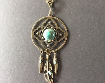 Native American charm, dream, turquoise, 10, 5 cm