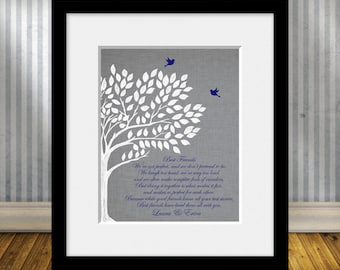 Maid of Honor Gift, BEST FRIEND Poem, Best Friends Wedding Gift, Best Friend Gift Print, Best Friend's Gift, Personalized Best Friend Gift