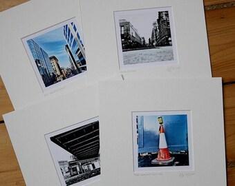 Set of four 'Sunday Morning' prints
