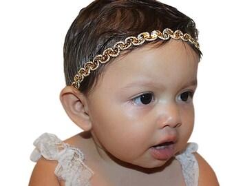 Girls Headband, Handmade Headband, Newborn Headband, Girls Headband, Baptism Headband, Wedding Flower Girls, Sequin Headband, Baby Girl Gift
