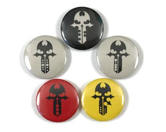 The World Ends With You TWEWY LevelPins & Player Pin Logo 1 Inch Button Set