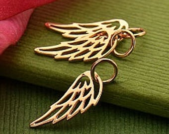 20% OFF SALE! Rose Gold Open Wing Charm or Necklace. Item 276.