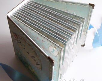 Premade Baby Boy Scrapbook, First Year Baby Boy Photo Album, It's a Boy, Baby Memory Book, Baby Boy Keepsake Book, Baby Boy Shower Book