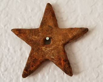 Vintage Cast Iron STAR Patina Rust Natural Finish FREE SHIPPING!