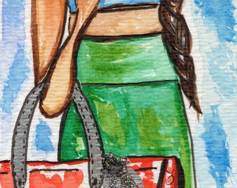 Faith Walking Bookmark/ Hand painted Bookmark/ Booklover/Fashionista Bookmark