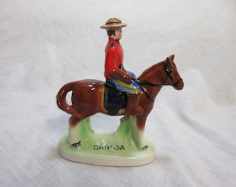 Rare  Royal Canadian Mounted Police Salt And Pepper Shakers 1940,s