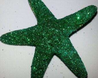 Starfish, Green , Beach wedding, tropical wedding, bridal, starfish barrette, starfish hair clip, fish, ocean clip,beach, mermaid