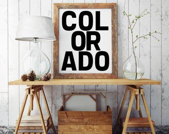 Colorado Typography, Colorado Graphic Art, Colorado Sign, Colorado Love, Colorado, Colorado Decor, Colorado State, Colorado Print, Denver