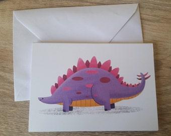 Stegosaurus A6 Card