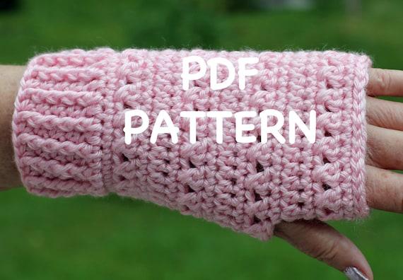 Perfect Fit Fingerless Gloves Pattern - Sizes Small, Medium and Large - Crochet Fingerless Gloves - Crochet Gloves