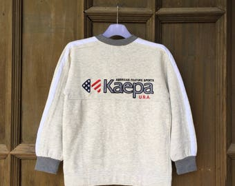 Kaepa vintage clothing multicolour embroidered spellout sweatshirt vintage style clothing American brand outfit size medium JuSNPYI