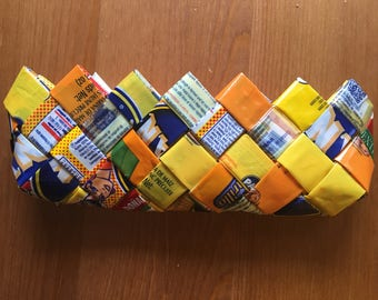 Harina PAN recycled crayon case