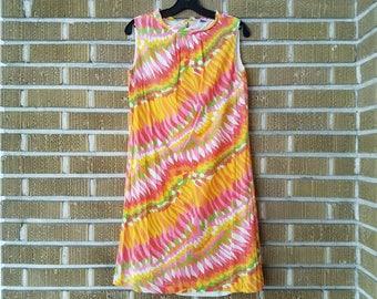 psychedelic 60s mini dress