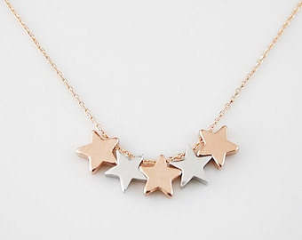 Tiny Star Charm Necklace Bridesmaid Gift Bridesmaid Necklace Dainty and Delicate Necklace