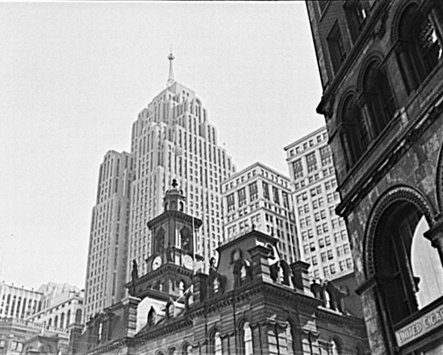 Old Detroit City Hall And Penobscot Building 1940s Photography