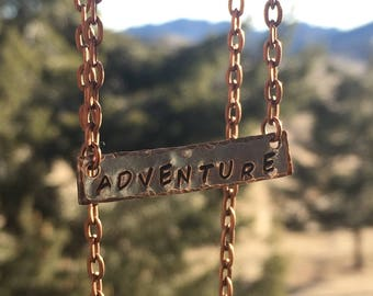 Copper Stamped Adventure Necklace