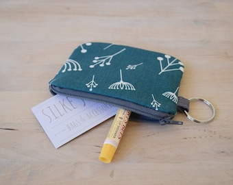 Mini Wallet in Twig Fall - Pouch with Key Ring