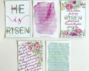 MAGNET He Is Risen Scripture Cards