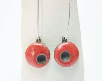 Ceramic earrings Raku.