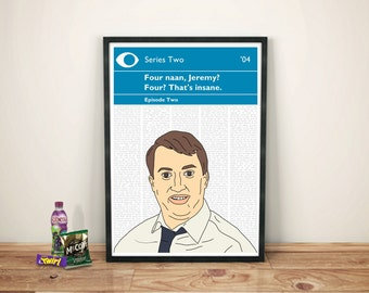 Peep Show Print | Mark Corrigan | Four Naan, Jeremy?