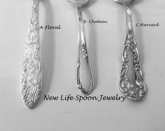 "Spoon Bracelet""Choose Your Pattern""Handmade Silver Vintage Gift Spoon Jewelry Fork Bracelet"
