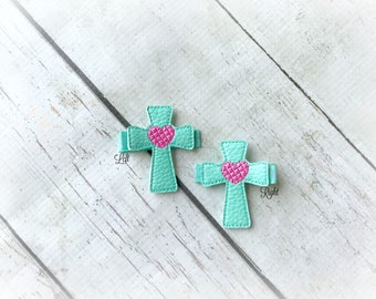 Cross hair clip Easter Cross Hair clip Easter hair clip. Pick Left side or Right.