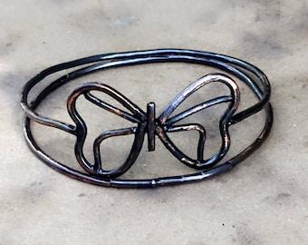 Copper Butterfly Bangle Set